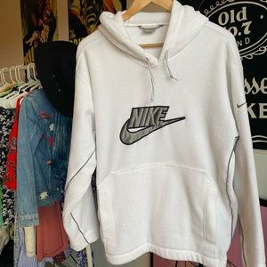 Cozy White Nike Hoodie